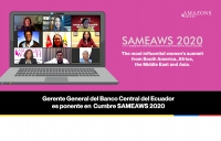 Gerente General del Banco Central participó en Cumbre Sameaws 2020