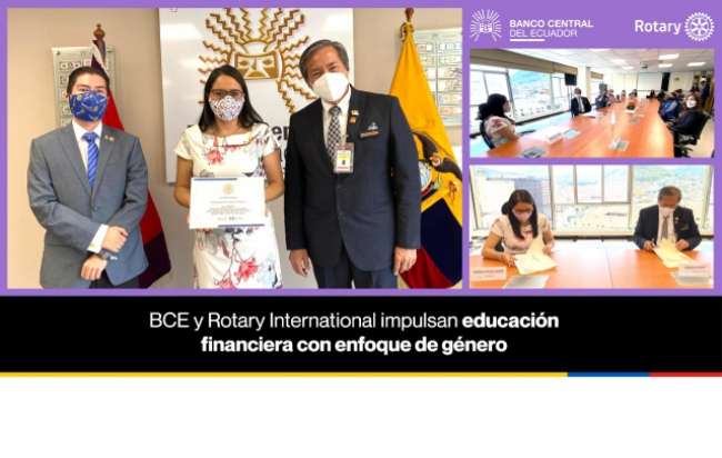 BCE y Rotary International impulsan educación financiera con enfoque de género